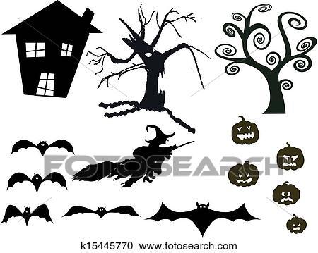 Halloween Silhouette Clipart K15445770 Fotosearch