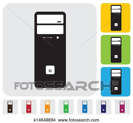 hardware cpu or desktop or workstation simple vector graphic clipart k14648694 fotosearch fotosearch