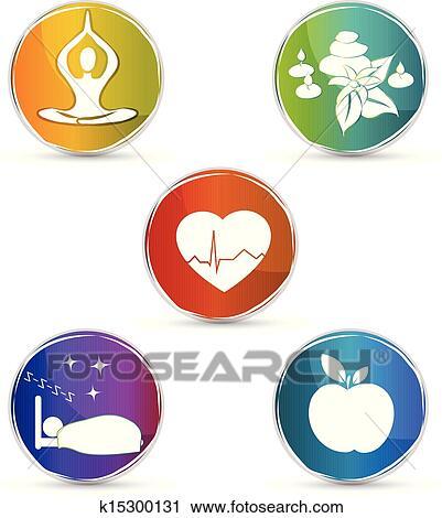 Health symbol set Clipart | k15300131 | Fotosearch