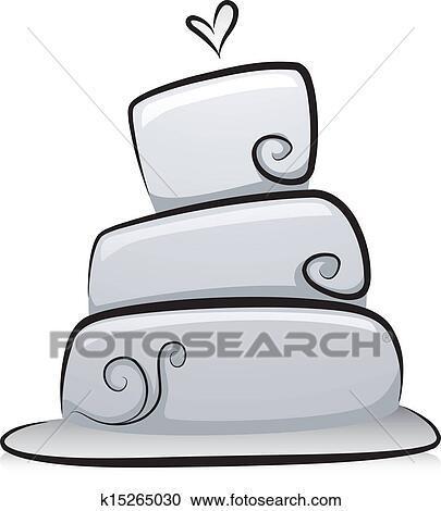 Clipart Hochzeit Kuchen In Schwarz Weiss K15265030 Suche Clip