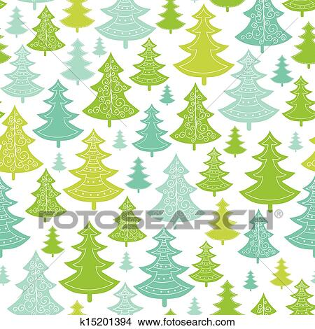 Christmas Trees Background Clipart.Holiday Christmas Trees Seamless Pattern Background Clipart