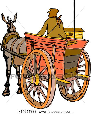 clipart of horse carriage k14657333 search clip art illustration rh fotosearch com horse carriage clipart cinderella carriage clipart
