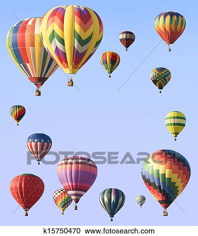 Stock Photography Of Hot Air Balloons Arranged Around Edge Of Frame