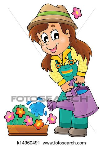clipart of image with gardener theme 1 k14960491 search clip art rh fotosearch com gardener clip art free garden clip art pictures