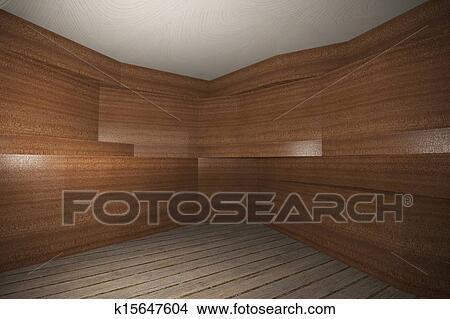 Dessins - intérieur, à, bois, placage, mur, et, planche, plancher ...