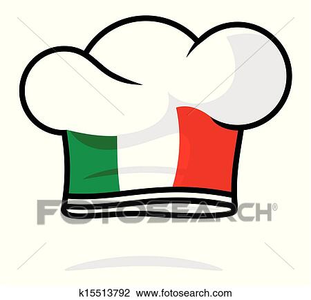 clipart of italian chef hat k15513792 search clip art rh fotosearch com