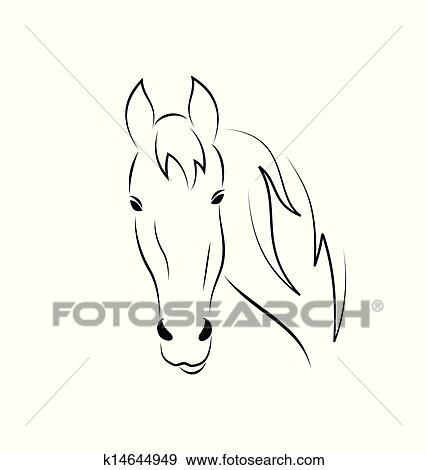 Horse Symbols Drawings Clip Art Symbol Outline Head