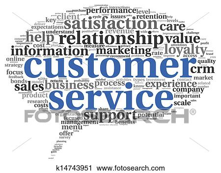 Clip Art Customer Service Clipart clipart of customer service concept in word cloud k14743951 fotosearch search clip art illustration