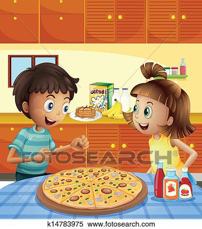 Clipart gosses les cuisine a pizza enti re for Cuisine entiere