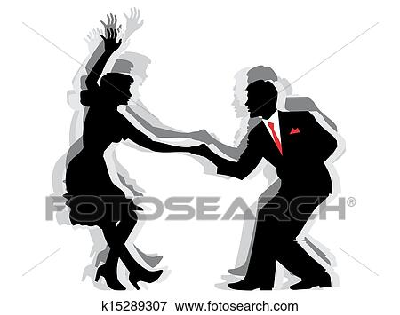 Clip Art Of Swing Dance Couple K15289307 Search Clipart