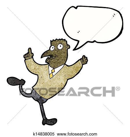 Klipart Karikatürize Et Koşan Adam To Açikla K14838005 Clipart