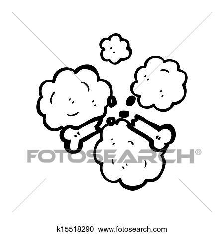 Stock Illustrationen - karikatur, gebrochener knochen, symbol ...