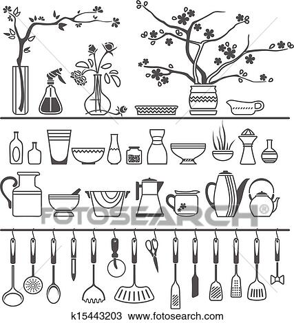 kitchen utensils vector. Kitchen Tools And Utensils. Vector Illustration Kitchen Utensils Vector