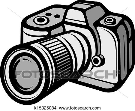 Kompakt, digital kamera Clipart | k15325084 | Fotosearch