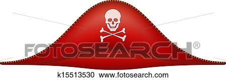 Klipart Korsan Gemisi şapkası Ile Kafatasi Sembol K15513530