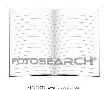 clip art of lined blank copy book exercise book school education