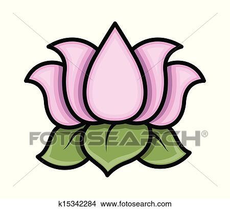 clipart of lotus flower vector k15342284 search clip art rh fotosearch com free lotus clipart fleur de lotus clipart
