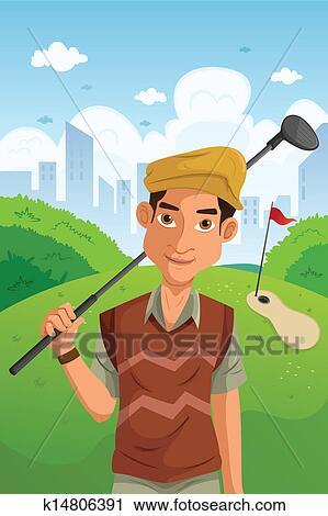 Man playing golf Clipart on cartoon golf club clip art, cartoon golf club swing, the step to draw a cartoon golf club, cartoon man golf club,