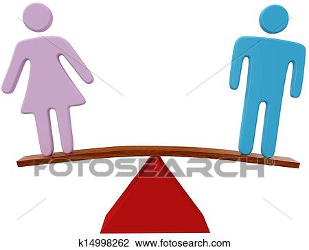 clip art of man woman equality sex gender balance k14998262 search rh fotosearch com men and women clipart man and woman clipart