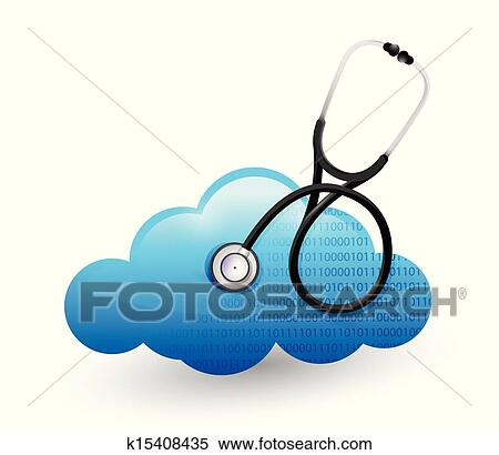 clipart of medical cloud computing stethoscope k15408435 search rh fotosearch com Cloud Computing Timeline cloud computing clipart free
