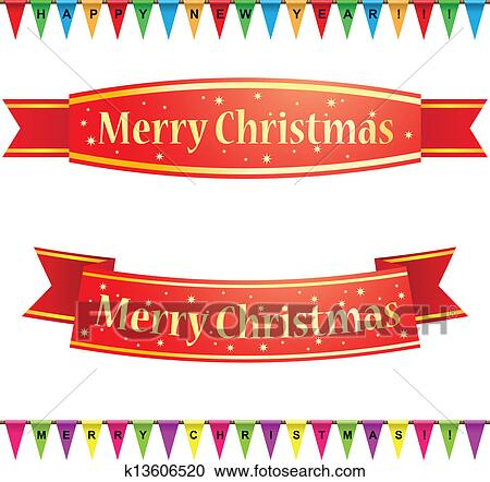 Merry Christmas Ribbon Clipart.Merry Christmas Ribbons Clipart