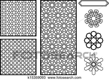 Clipart Of Middle Eastern Islamic Patterns K40 Search Clip Awesome Middle Eastern Patterns