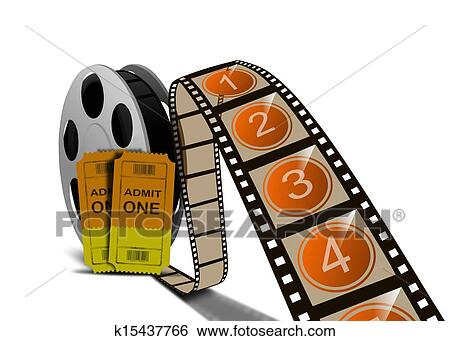 Stock Illustration Of Movie Film Reel And Tickets K15437766 Search
