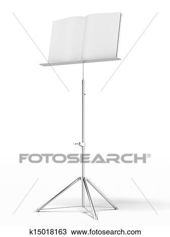 Drawing Of Music Stand K15018163 Search Clipart Illustration