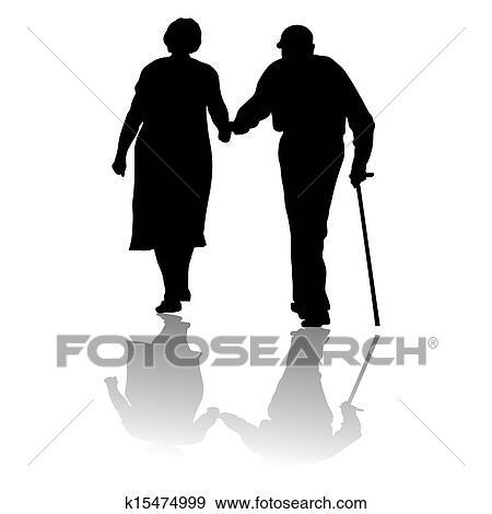 Old people Clip Art | k15474999 | Fotosearch