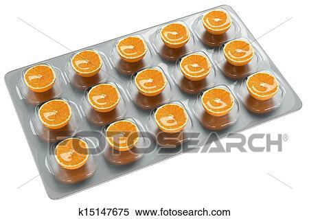 Banque d Illustrations - orange, -, vitamine c. Fotosearch - Recherche de e8d5353d017
