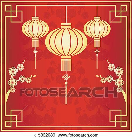 Clipart Oriental Lanterne Chinoise Illustration K15832089