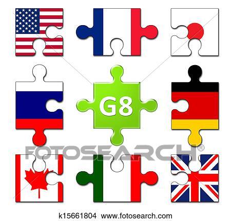 desenhos países membros de a g8 grupo k15661804 busca de