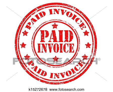 Paid Invoice Stamp Clip Art K15272678 Fotosearch