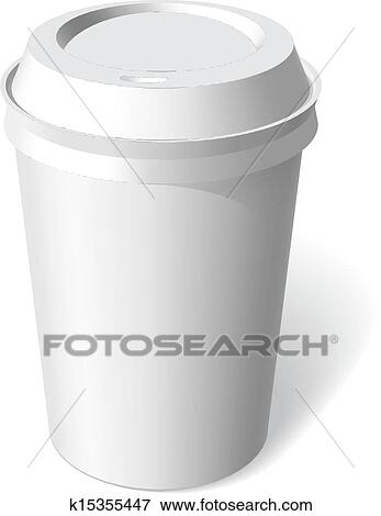 Clip Art Of Paper Cup Blank Template Vector K15355447