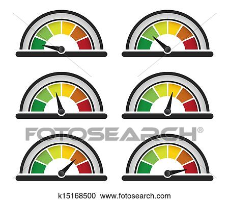 clipart of performance speed meter k15168500 search clip