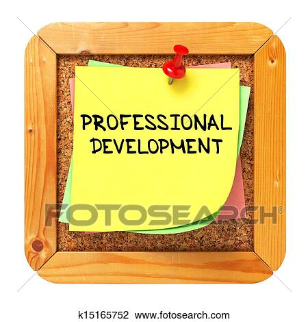 clip art of professional development sticker on bulletin k15165752 rh fotosearch com professional growth and development clipart professional growth and development clipart