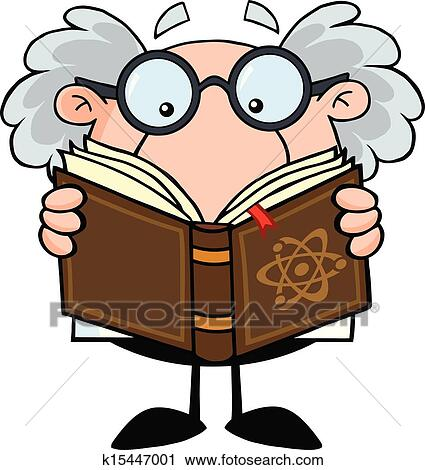 Professor Reading A Book Clipart K15447001 Fotosearch