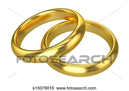 Stock Illustration Of Realistic Wedding Rings Gold K15079016