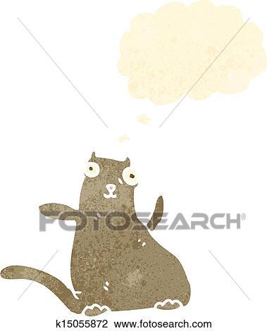 Retro cartone animato gatto grasso clipart k fotosearch