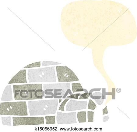 Clipart Of Retro Cartoon Igloo K15056952 Search Clip Art