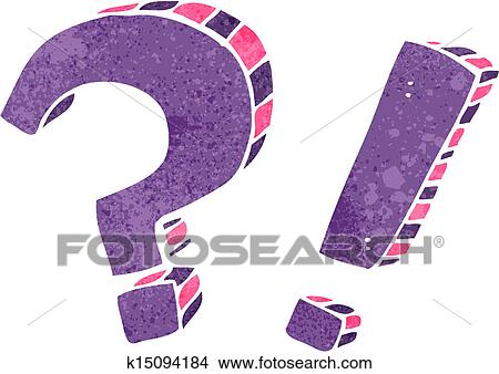 clipart of retro cartoon question marks and exclamation marks