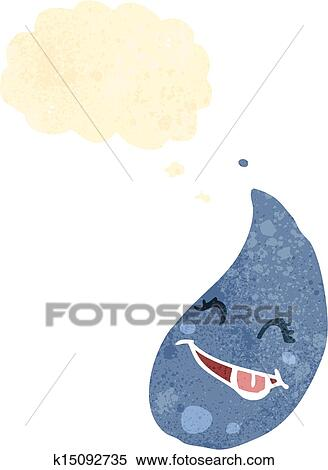 Retro Karikaturize Et Yagmur Damlasi Klipart K15092735