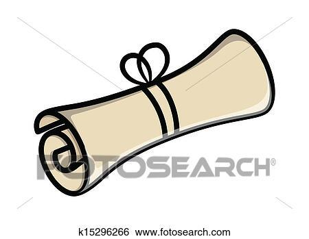 clipart rouleau parchemin papier vecteur k15296266 recherchez des cliparts des. Black Bedroom Furniture Sets. Home Design Ideas