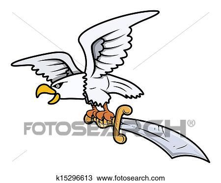 Clipart Schnee Adler Tragen Degen Vektor K15296613 Suche