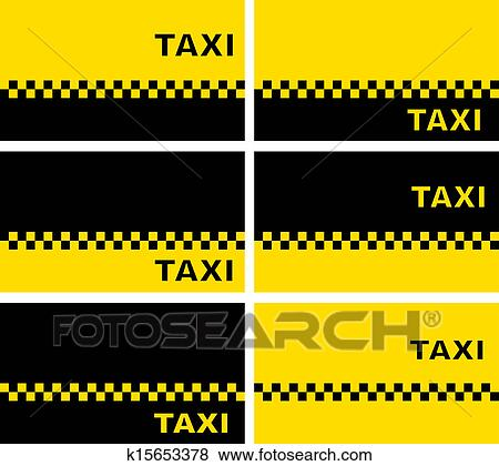 Stock Illustration Of Set Of Taxi Business Cards K15653378 Search
