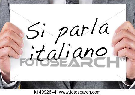 Si Parla Italiano We Speak Italian Written In Italian Picture K14992644 Fotosearch