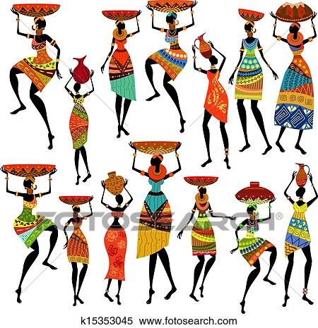 clipart of silhouettes of beautiful african women k15353045 search rh fotosearch com beautiful clipart images beautiful clip art images