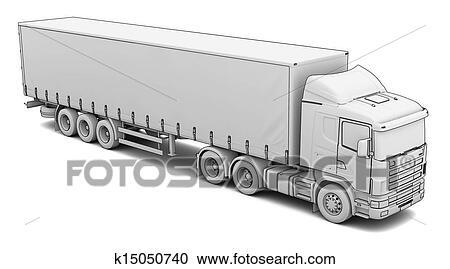 Stock Illustrationen - skizze, weisser lkw k15050740 - Suche Clipart ...