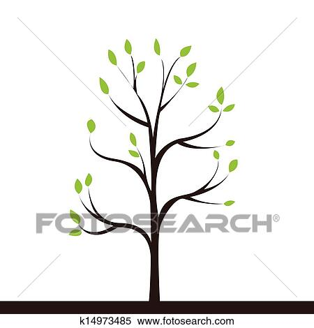 clipart of small tree k14973485 search clip art illustration
