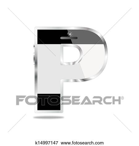 Stock Illustration Of Smartphone Alphabet Letter P K14997147